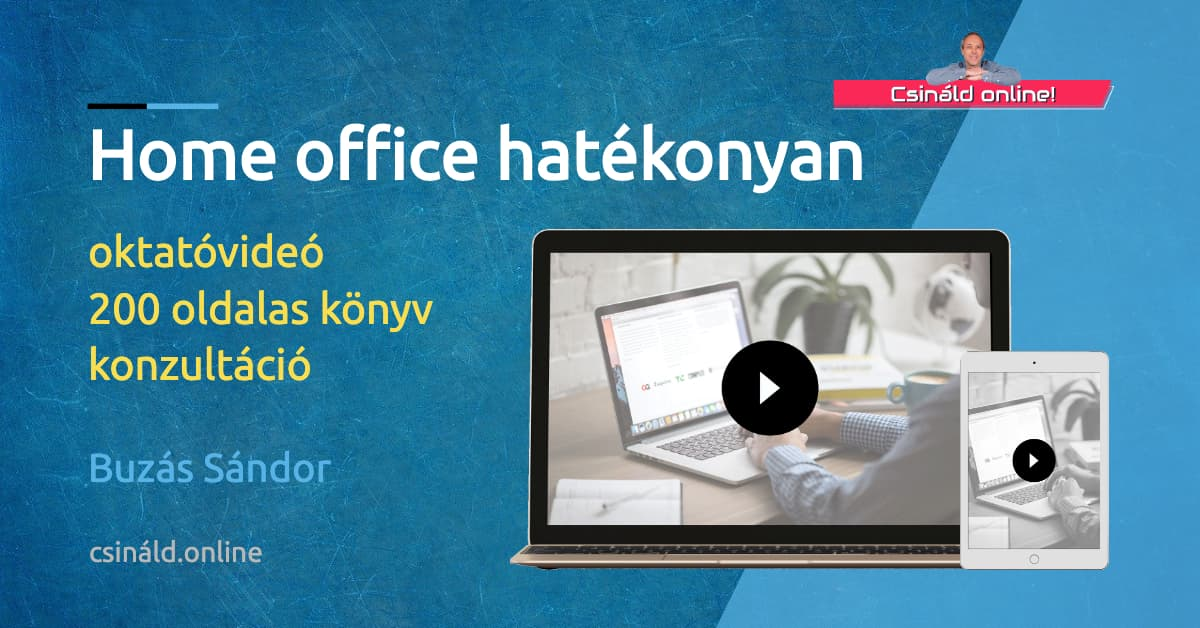 Home office hatékonyan